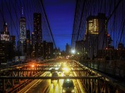 Rush Hour On the Brooklyn Bridge