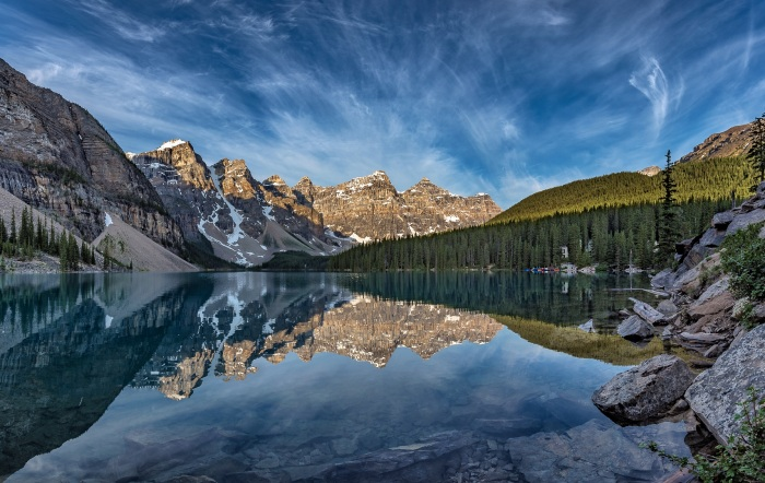 Quiet Morning on Moraine Lake