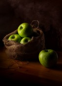Apples and Burlap