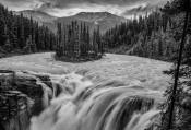 Colorless Sunwapta Falls
