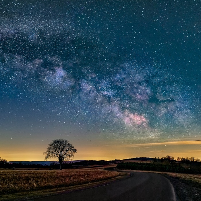 Country Road Milky Way