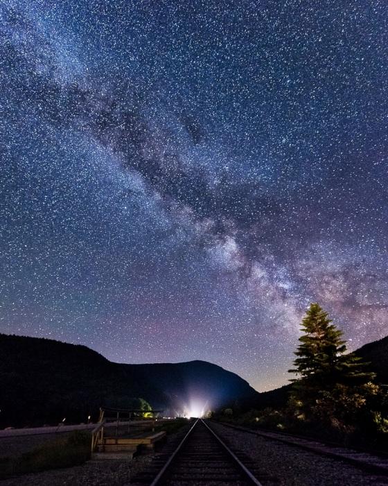 Starry night in Crawford Notch