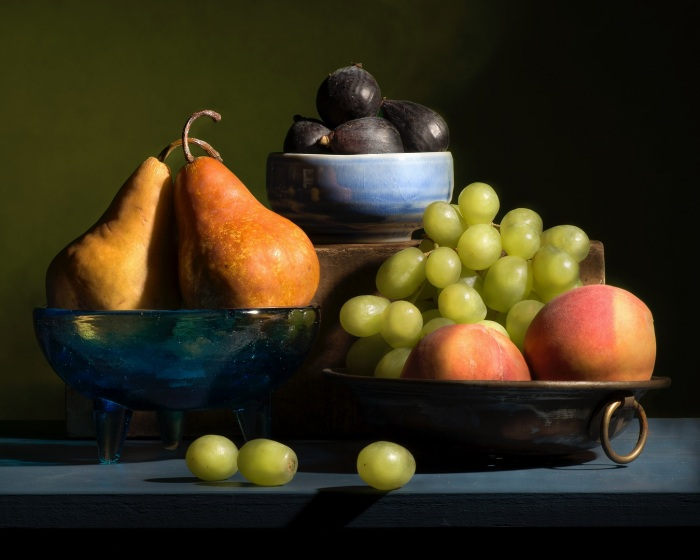 Figs, Grapes, Peaches, and Pears