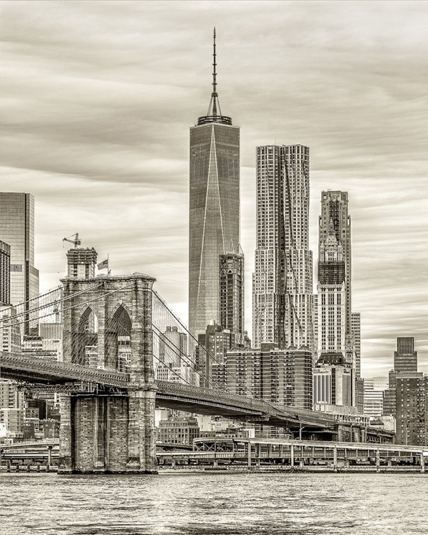 Category Cityscapes by Charlie Batchelder Brooklyn View