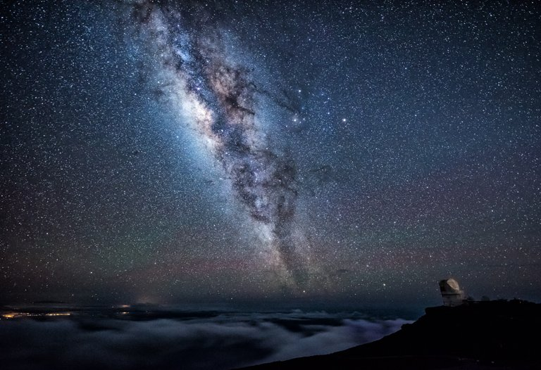Category Night Sky by Darrell Harrington Stars above the clouds