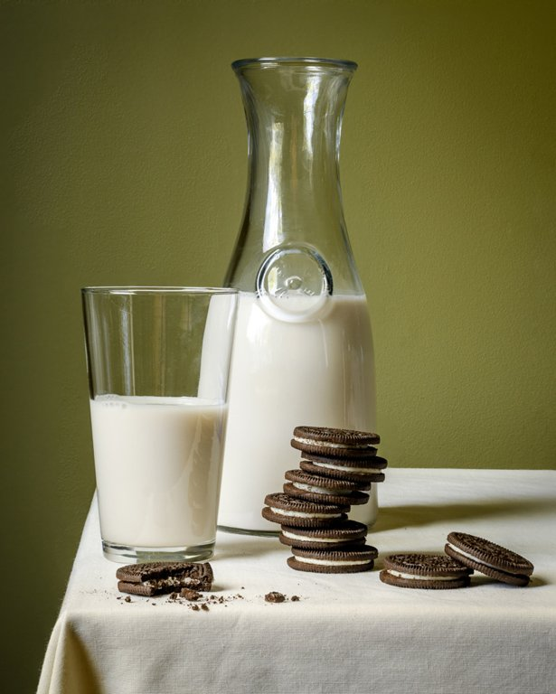 Category Still Life by Charlie Batchelder Oreos and Milk