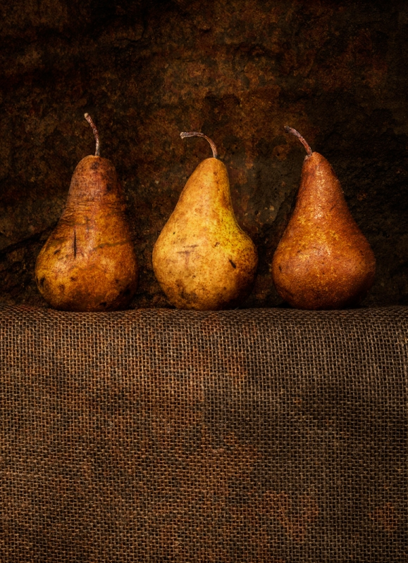 Pears and Burlap