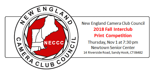 NECCC Fall Interclub Print Competition hosted by Flagpole Photographers @ Newtown Senior Center
