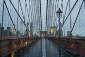 Rainy Brooklyn Bridge